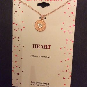 "Unwritten necklace "" Follow your Heart"""